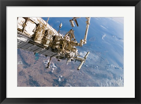 Framed ISS Panoramic View Day 5 Print