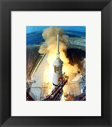 Framed Apollo 11 Launch Print