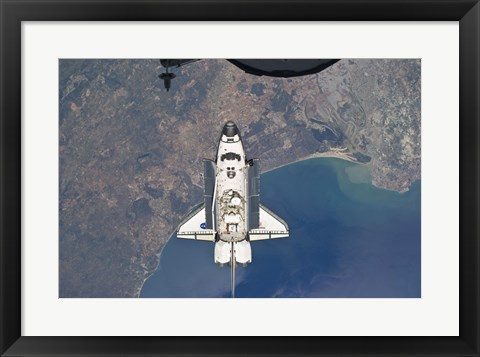 Framed Atlantis in Orbit Print