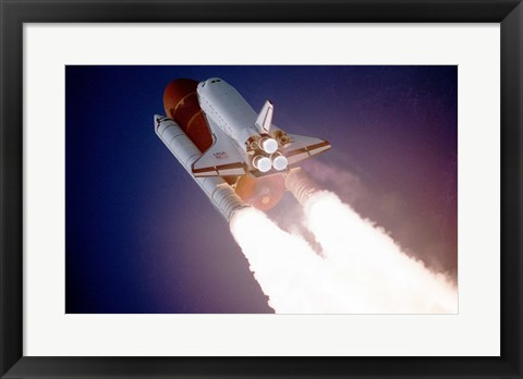 Framed Atlantis Taking Off on STS-27 Print