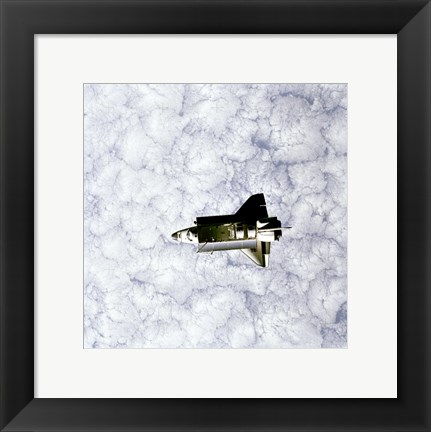 Framed Challenger as seen from Space Print