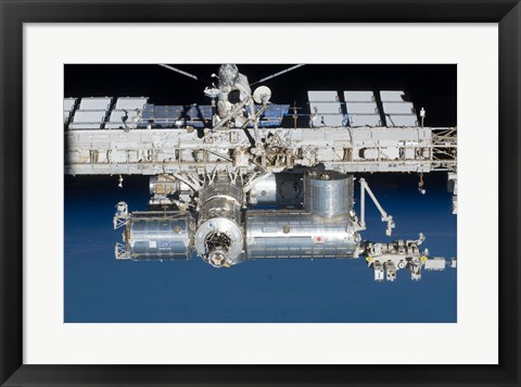 Framed Close-up view of a section of the International Space Station Print