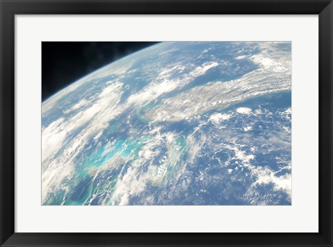 Framed Florida from space taken by Atlantis Print