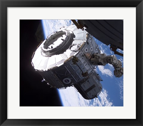 Framed ISS Quest Module Instalation of International Space Station Print