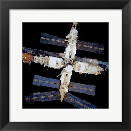 Framed Mir Space Station Print