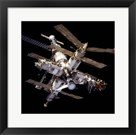 Framed Mir Space Station From Below Print