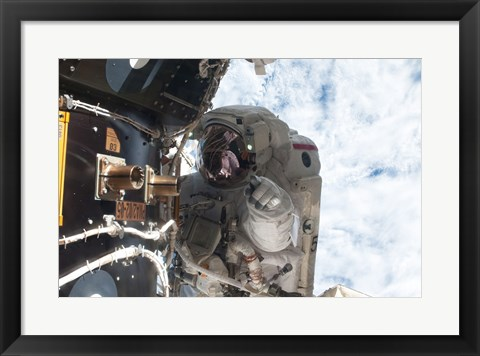 Framed NASA Astronaut Mike Fossum Atlantis Print
