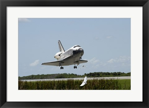 Framed NASA Space Shuttle Atlantis Landing Print