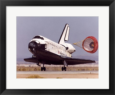 Framed NASA Space Shuttle Discovery Print