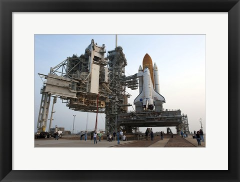 Framed Payload Canister and Atlantis at Pad Print