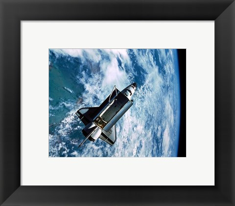 Framed Shuttle Discovery in Space Print