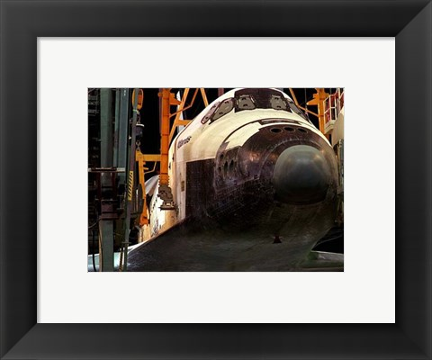 Framed Space Shuttle Atlantis under construction Print