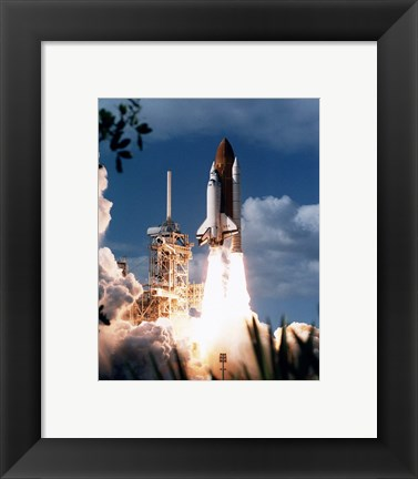 Framed STS-80 Launch Print