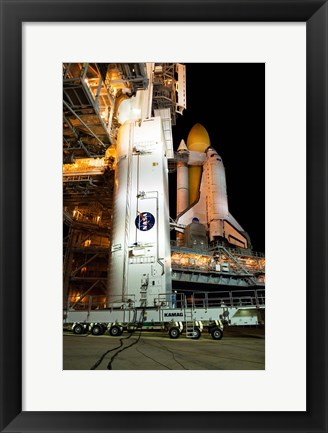 Framed STS-129 Payload Canister Print