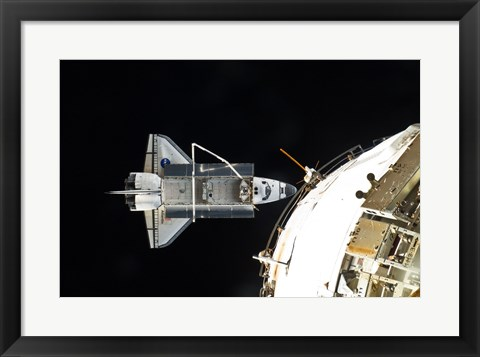Framed STS132 Atlantis undocking Print