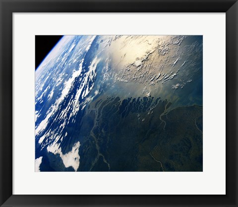 Framed View of earth from atlantis Print