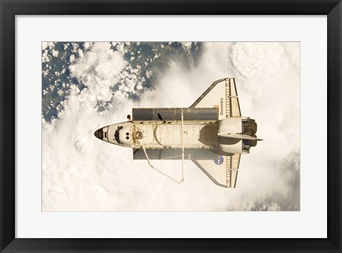 Framed View of the Space Shuttle Discovery Print