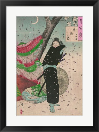 Framed Lady Samurai Print