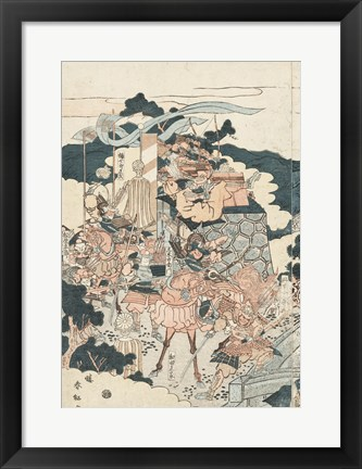 Framed Samurai Battle I Print