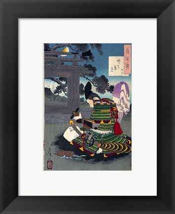 Framed Yoshitoshi - 100 Aspects of the Moon Print