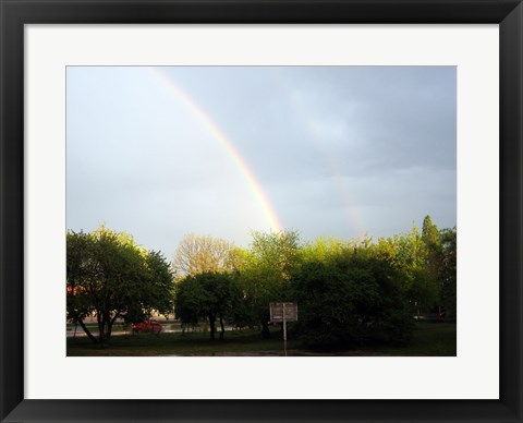 Framed Double Rainbow, Poland Print