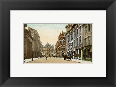 Framed Postcard of Toronto street and post office, Toronto, Canada Print