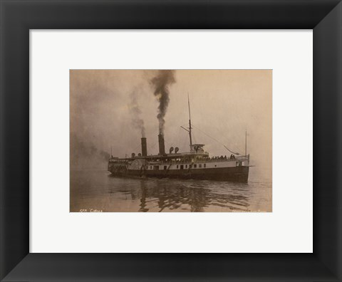 Framed Steamer Cibola - launched in 1887 Print