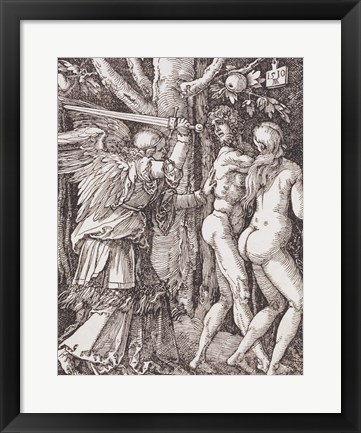 Framed Adam and Eve Exit Eden Print