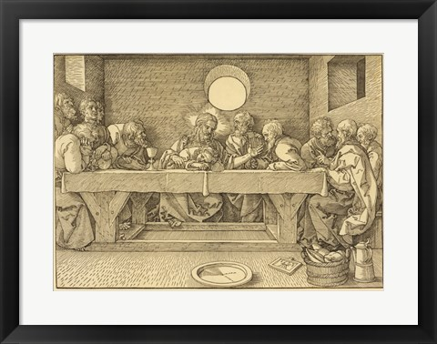 Framed Last Supper Durer Print