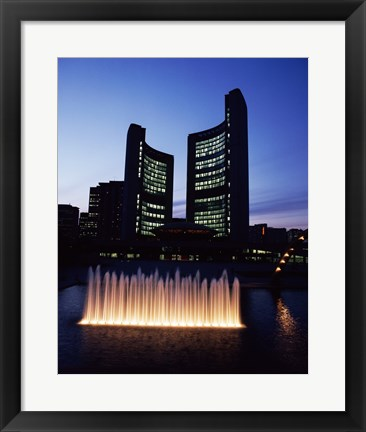 Framed City Hall & Nathan Phillips Square, Toronto, Canada Print