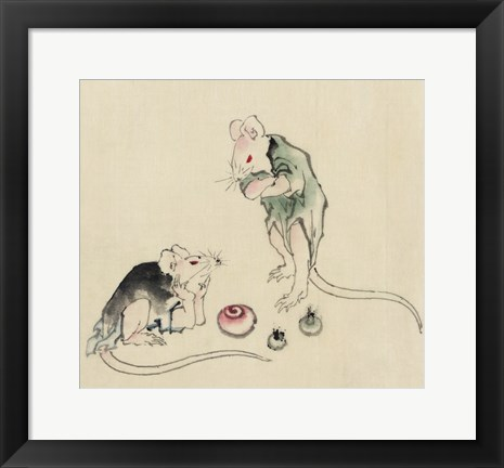 Framed Mice in Council Print