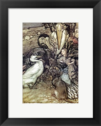 Framed Alice in Wonderland, But who has won Print