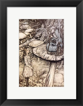 Framed Alice in Wonderland, Advice from a Caterpillar Print