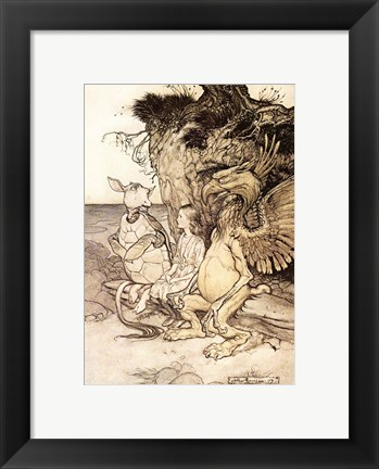 Framed Alice in Wonderland, That's very curious Print