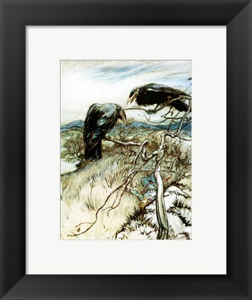 Framed Two Corbies Print