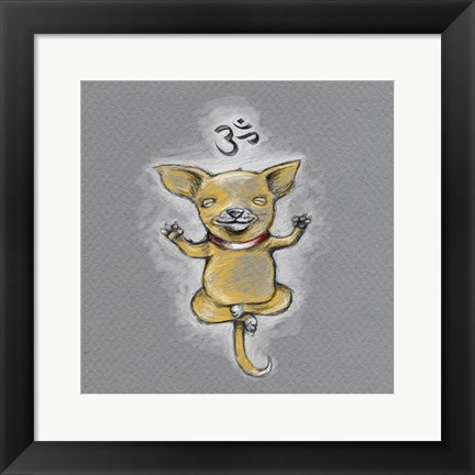 Framed Enlightened Chihuahua Print