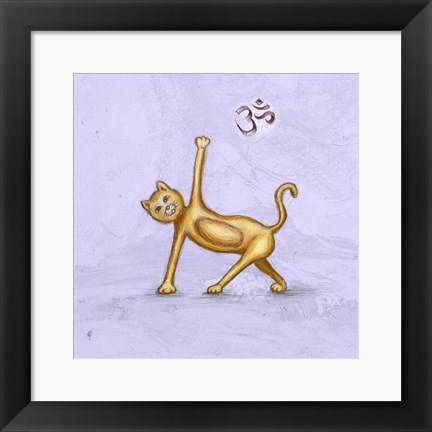 Framed Yoga Cat II Print