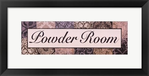 Framed Powder Room Purple Print