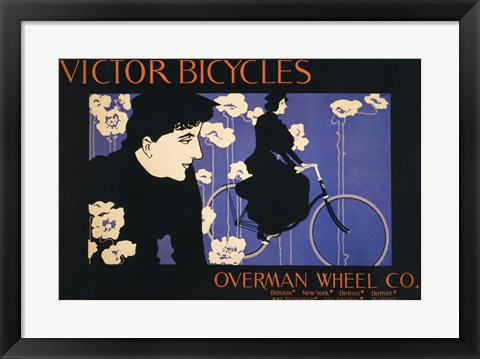 Framed Victor Bicycles Print