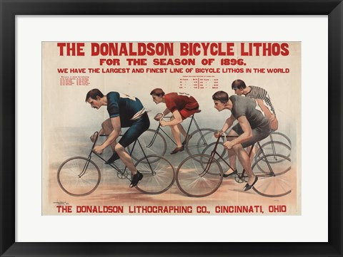 Framed Donaldson Bicycle Print