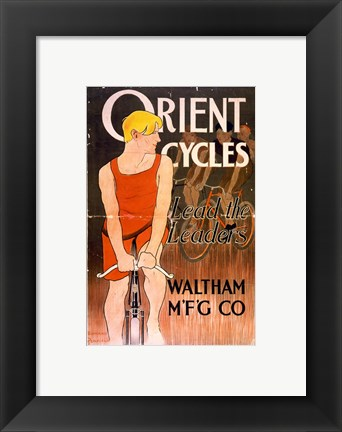 Framed Orient Bicycles Print