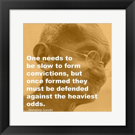 Framed Gandhi - Convictions Quote Print