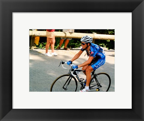 Framed Joseba Beloki Tour de france 2005 Print