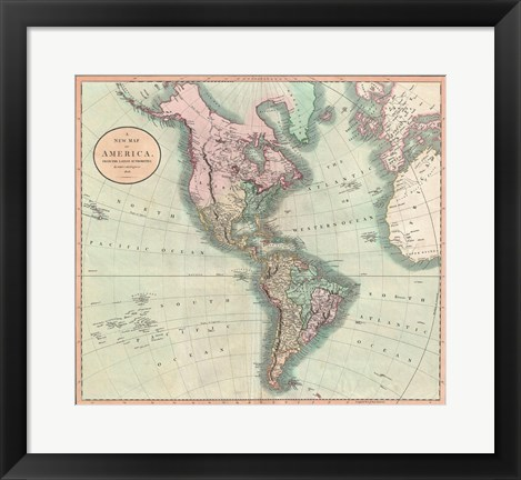 Framed 1799 Clement Cruttwell Map of West Indies Print