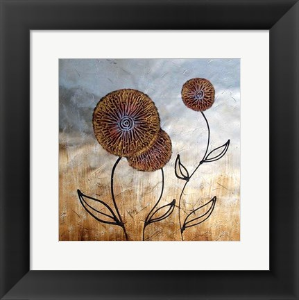 Framed Flowers in the Field Print