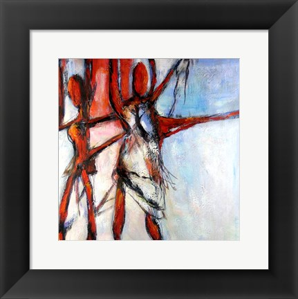 Framed Abstract Figure Study Print