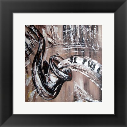 Framed Abstract Saxaphone Print
