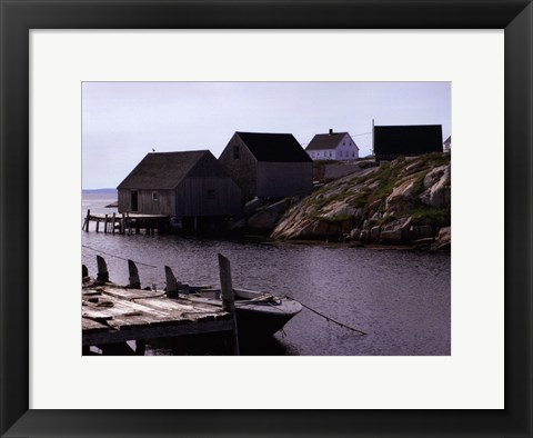 Framed Coastal Shore I Print