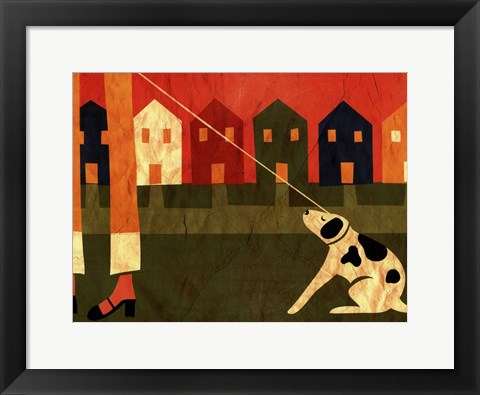 Framed Walk the Dog I Print