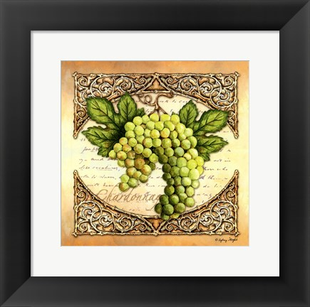 Framed Wine Grapes II Print